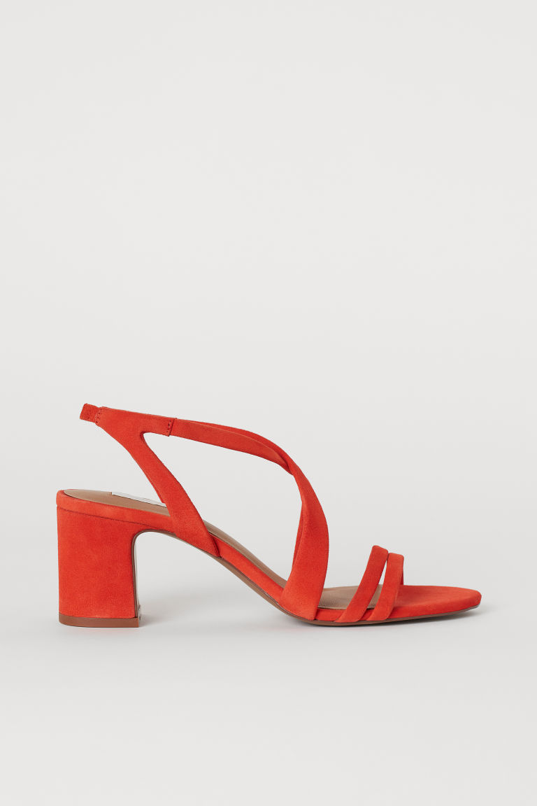 Suede Sandals - Dark orange - Ladies | H&M US