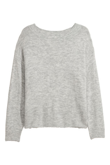 H&M+ Knitted jumper - Light grey - Ladies | H&M