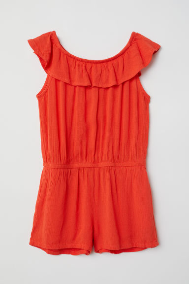 Patterned playsuit - Red - Kids | H&M CN