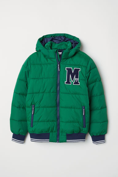 Padded jacket - Dark green - Kids | H&M CN