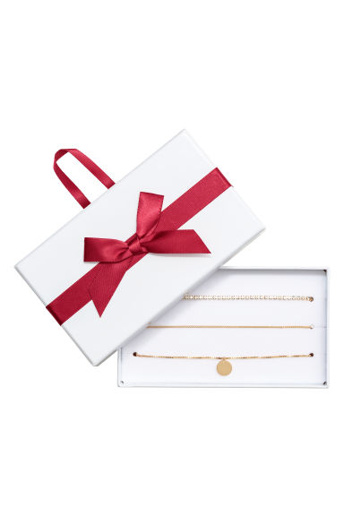 3-pack chokers - Gold-colored -  | H&M