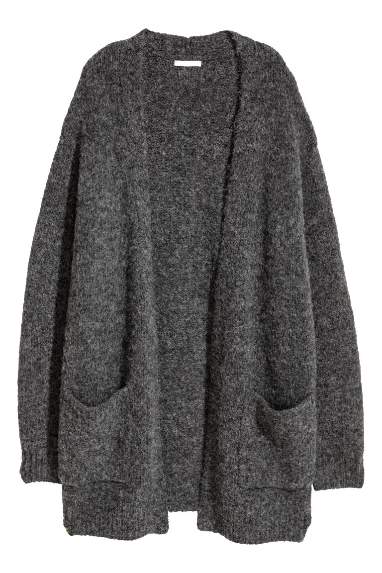 Knit Cardigan - Dark gray - Ladies | H&M CA