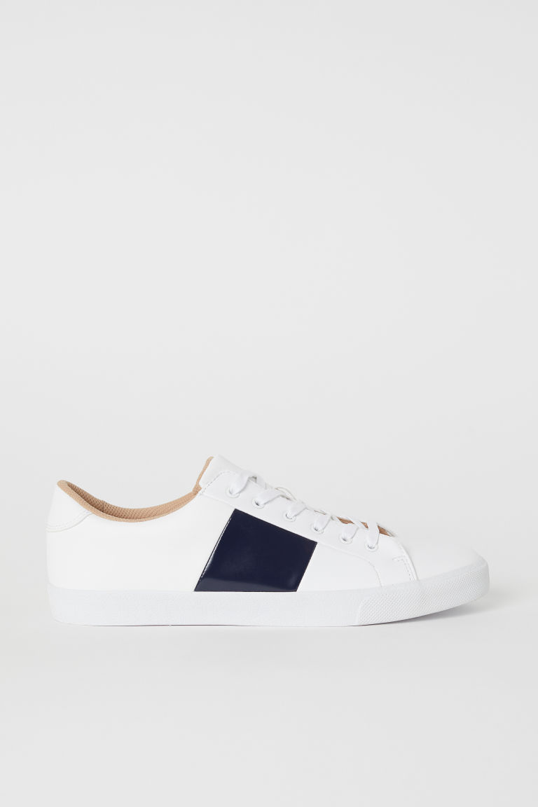 Sneakers - Wit/donkerblauw - HEREN | H&M BE