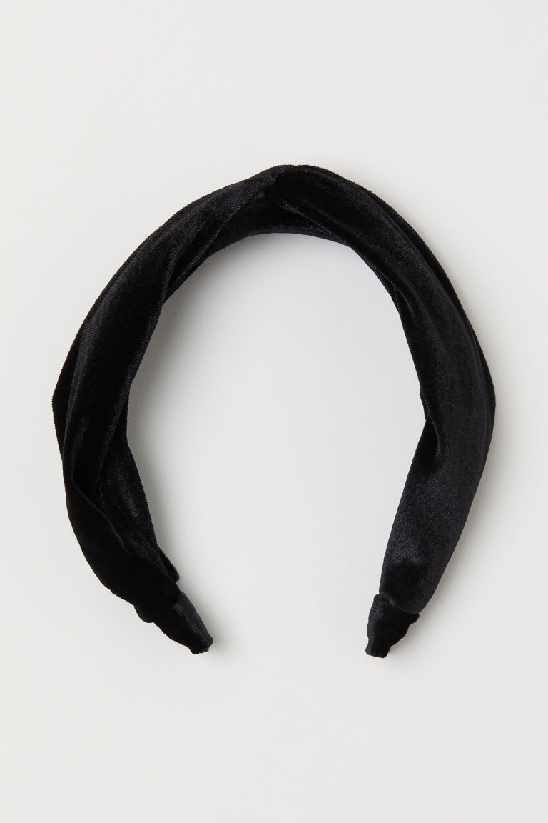 Velvet Alice band - Black - Ladies | H&M