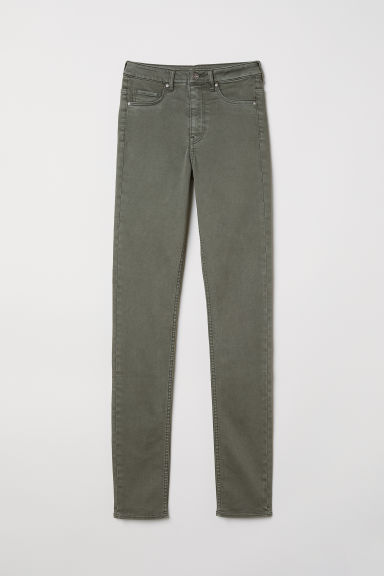 Skinny High Waist Jeggings - 卡其綠 - Ladies | H&M