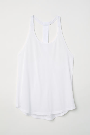 Sports vest top - White - Ladies | H&M