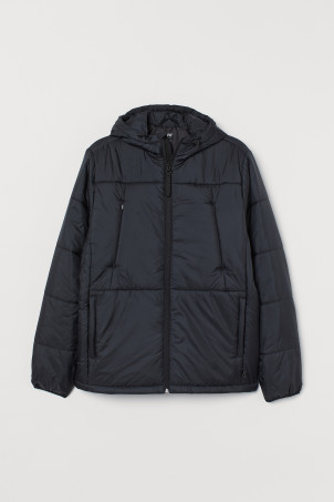 Water-repellent padded jacket