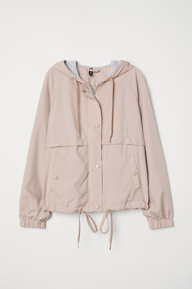 Hooded jacket - Powder pink - Ladies | H&M