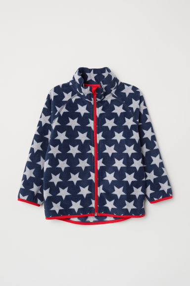 Fleece jacket - Dark blue/Stars - Kids | H&M