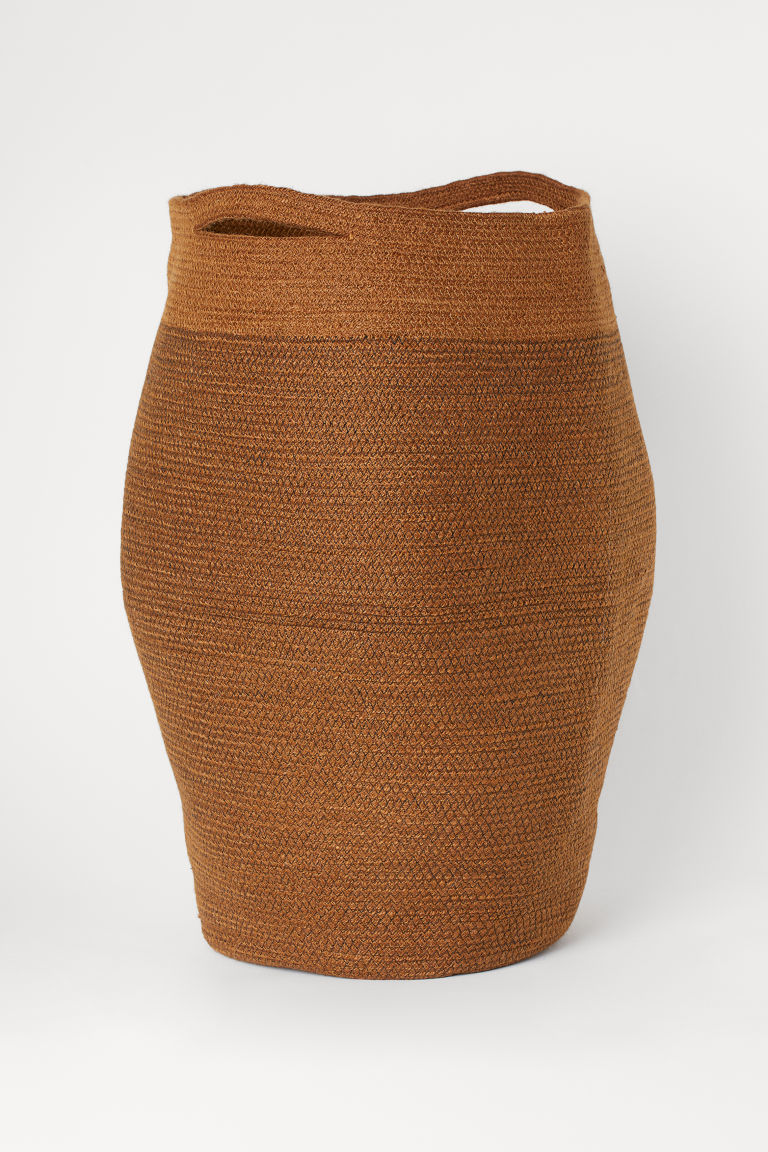 Jute laundry basket - Light brown -  | H&M GB