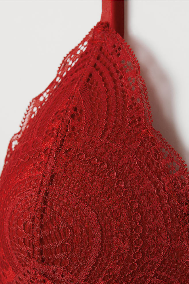 454b4fde966dd Soft-cup Lace Push-up Bra - Red - Ladies