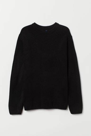 Knitted jumper - Black - Men | H&M