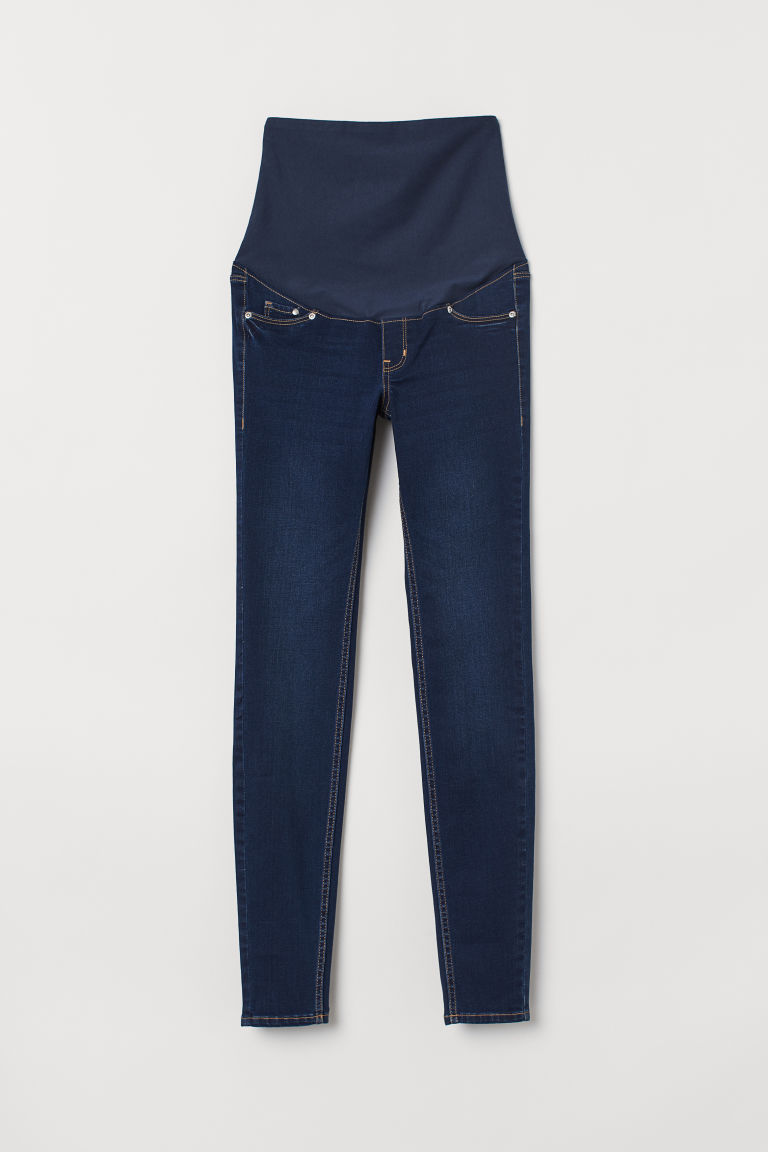 MAMA Super Skinny Jeans - Dark denim blue - Ladies | H&M CA