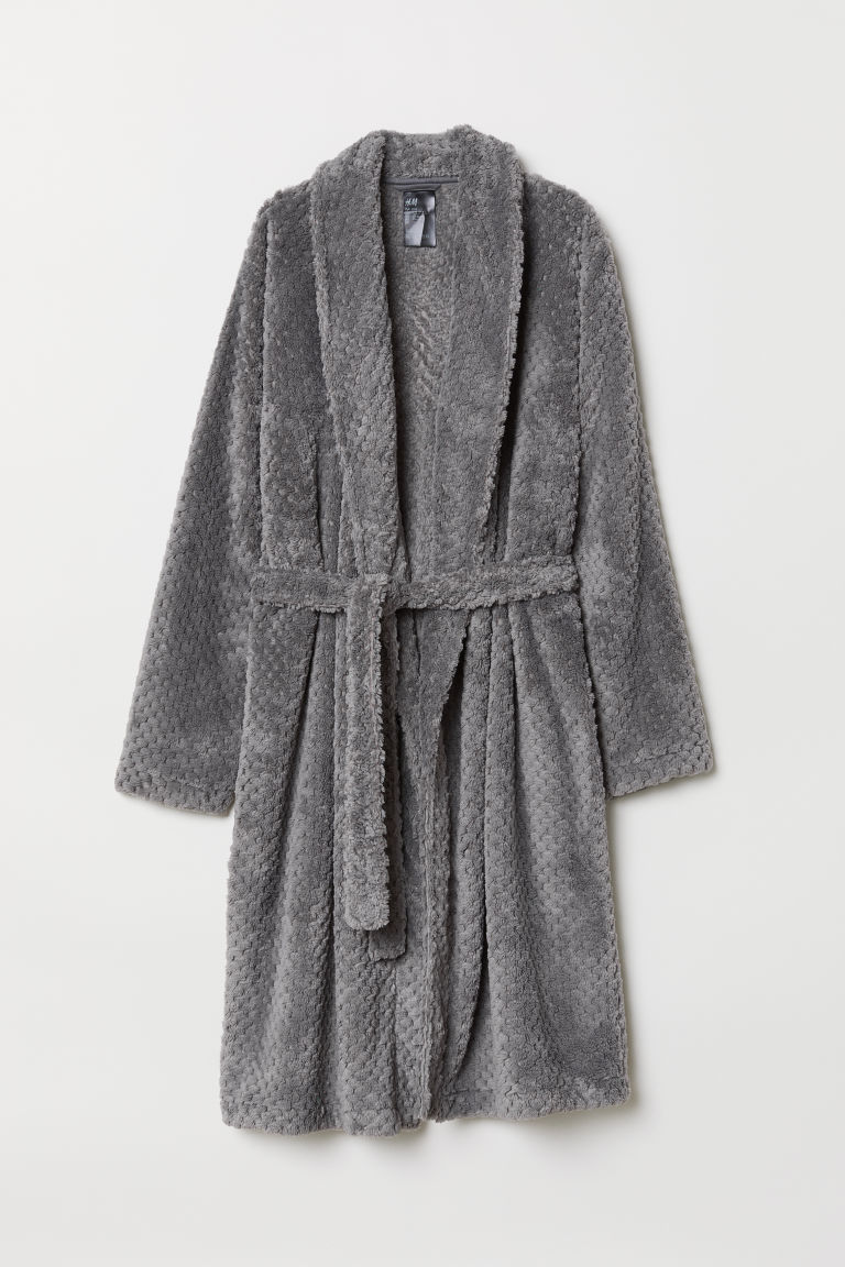 Pile dressing gown - Grey - Ladies | H&M