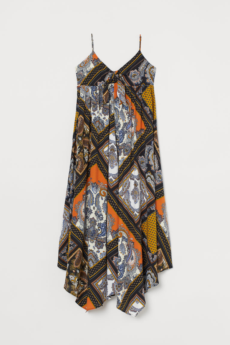 Paisley-patterned dress - Dark blue/Paisley-patterned - Ladies | H&M