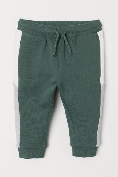 Block-coloured joggers - Khaki green - Kids | H&M CN