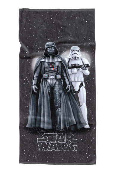 Drap de douche à motif - Noir/Star Wars - Home All | H&M FR