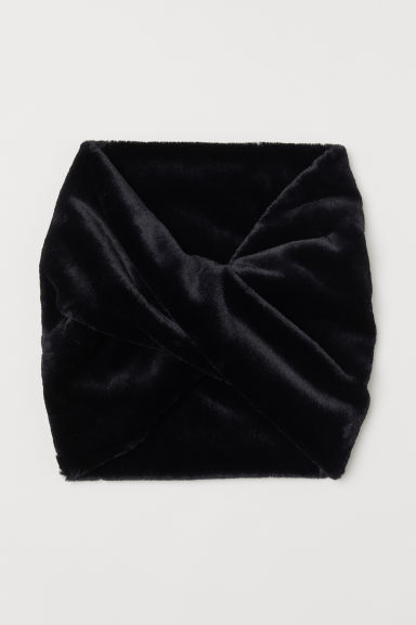 Faux fur tube scarf - Black - Ladies | H&M CN