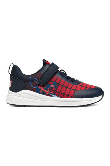 Mesh trainers - Dark blue/Spider-Man - Kids | H&M