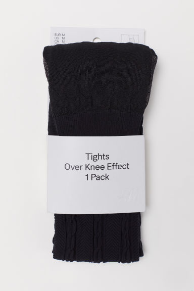 Over-the-knee look tights - Black - Ladies | H&M CN
