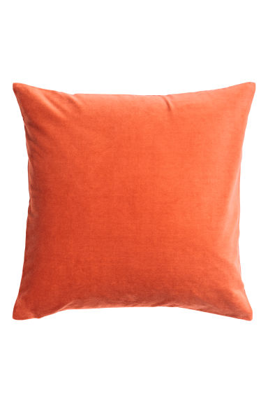 Cotton Velvet Cushion Cover - Orange - Home All | H&M US