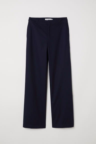 Wide chinos - Dark blue - Ladies | H&M