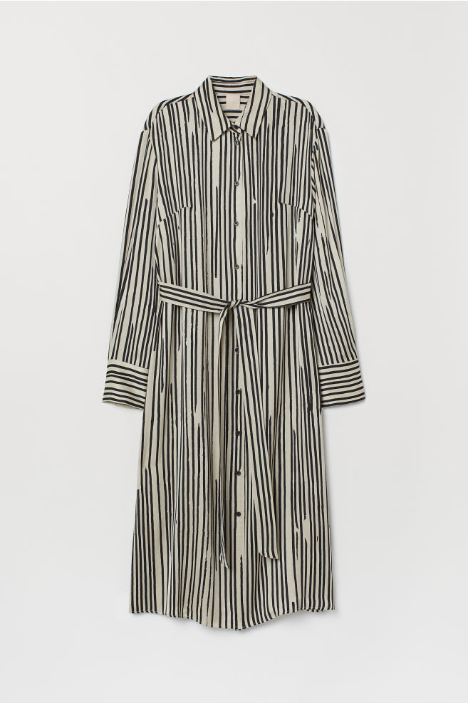 208728ce56 Shirt Dress - Beige/black striped - Ladies | H&M ...