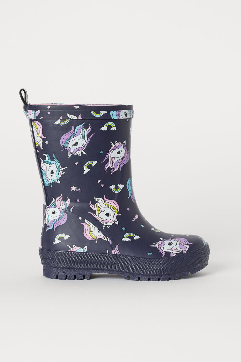 Wellingtons - Dark blue/Unicorns - Kids | H&M