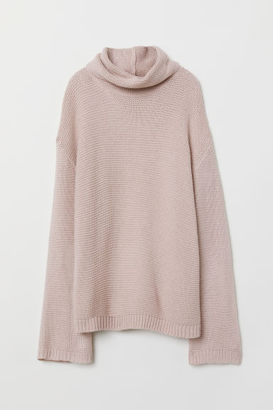 Polo-neck jumper - Powder pink -  | H&M
