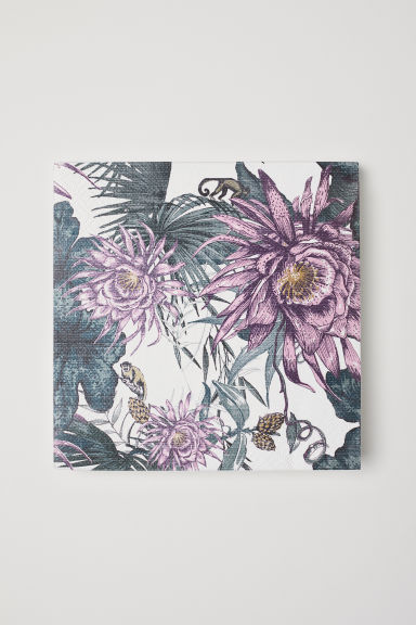 Paper Napkins - White/floral - Home All | H&M US