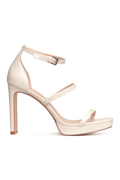 Platform sandals - White - Ladies | H&M CN