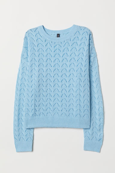 Knitted jumper - Light blue -  | H&M