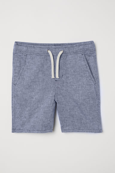 Generous Fit Shorts - Dark blue/Striped -  | H&M