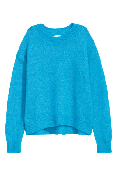 Mohair-blend jumper - Turquoise - Ladies | H&M