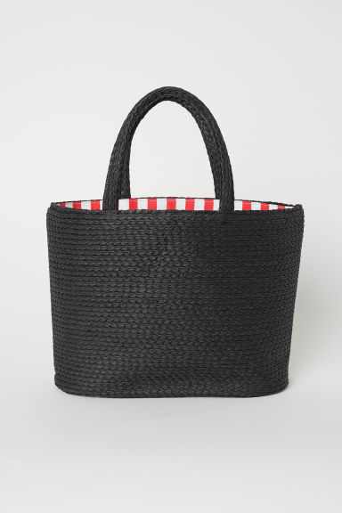 Straw bag - Black - Ladies | H&M CN
