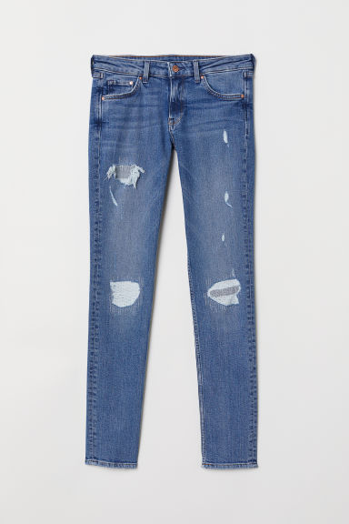 Skinny Low Jeans - Licht denimblauw/trashed -  | H&M BE