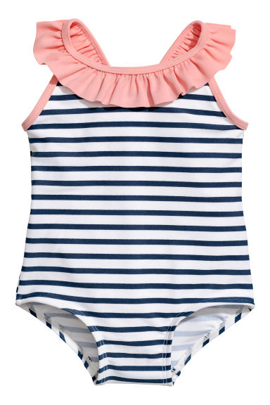 Swimsuit - White/Striped - Kids | H&M CN