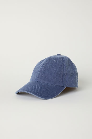 Washed cotton cap - Blue - Men | H&M GB