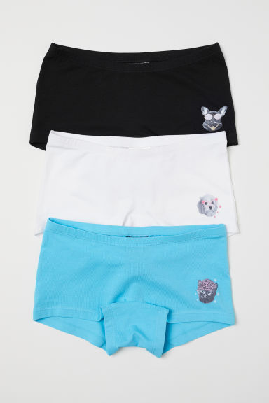 3-pack boxer briefs - Turquoise/Animals - Kids | H&M