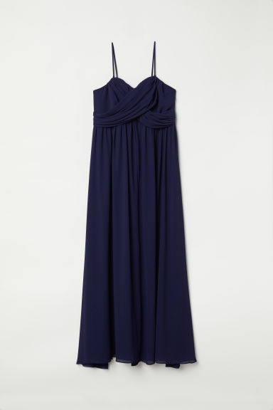 H&M+ Draped bandeau dress - Dark blue - Ladies | H&M CN