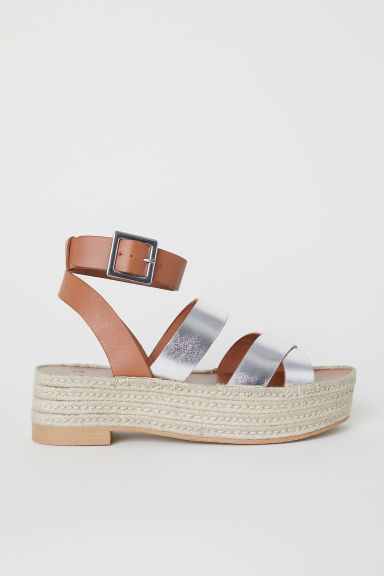 Platform sandals - Brown/Silver-coloured -  | H&M