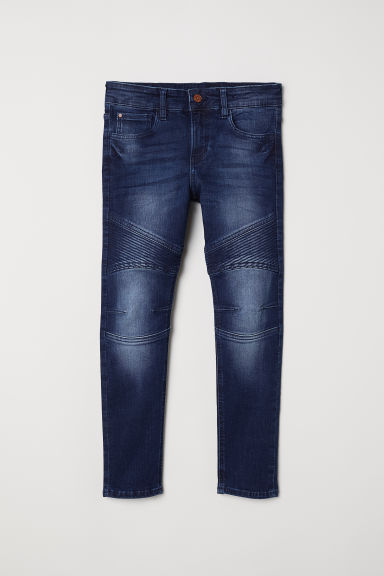 Generous Fit Skinny Jeans - Dark denim blue - Kids | H&M