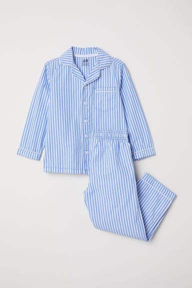 Cotton pyjamas - Light blue/Striped - Kids | H&M