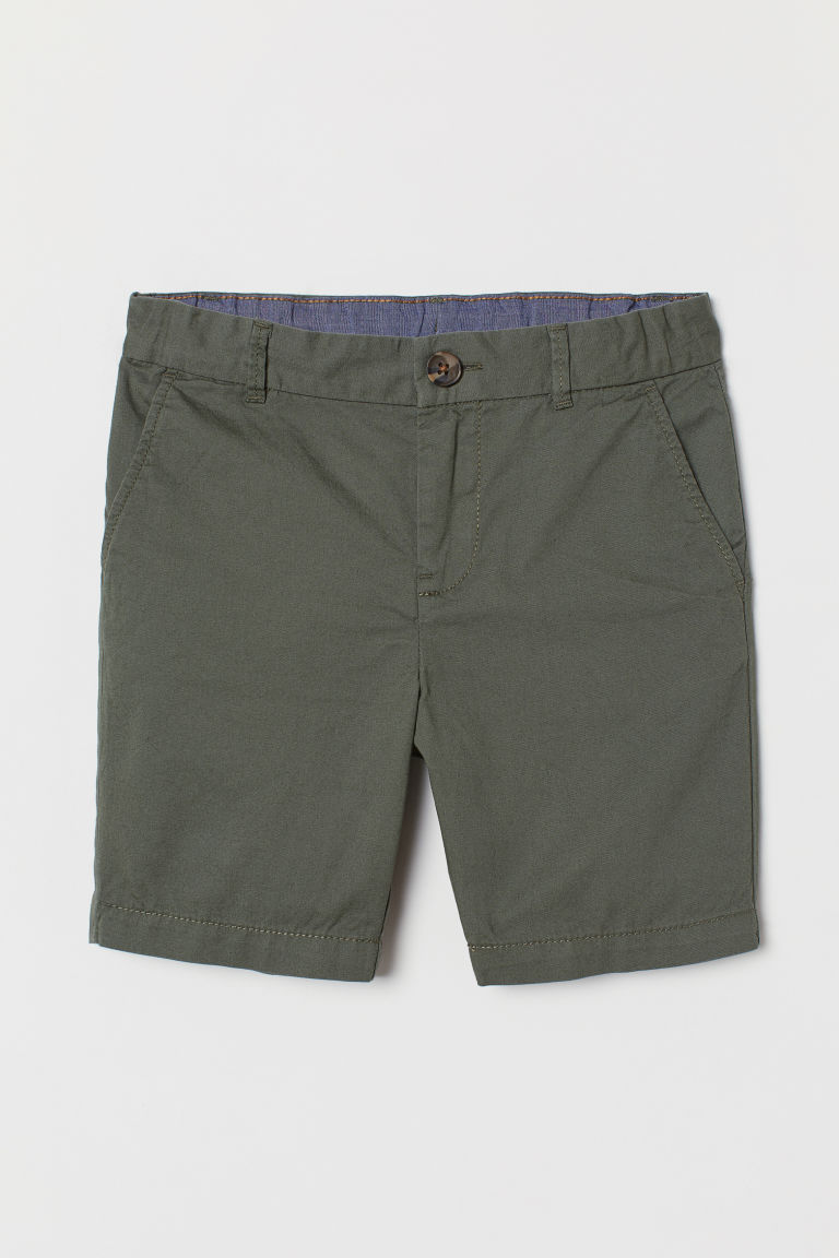 Chino shorts - Dark khaki green - Kids | H&M GB