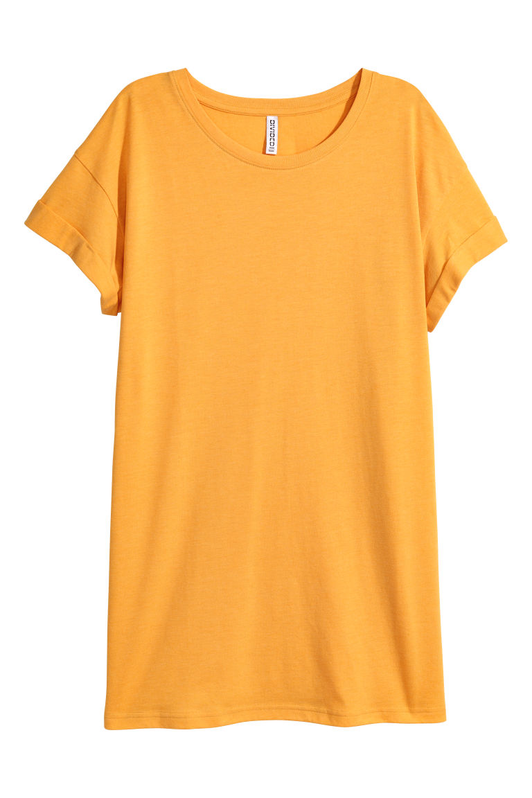 Long T-shirt - Yellow -  | H&M