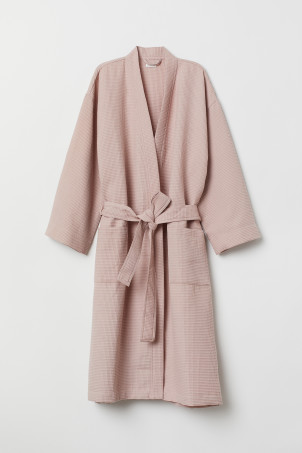 Waffled dressing gown