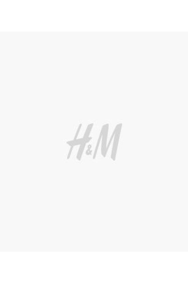 e82a6009e Linen-blend Dress - White/dark blue striped - Ladies   H&M ...
