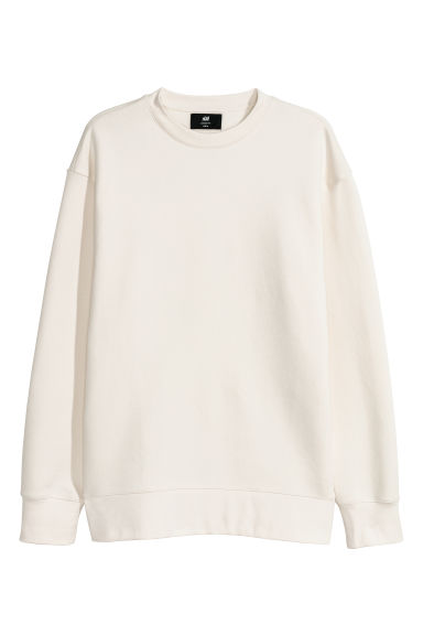 Sweat Loose fit - Blanc - HOMME | H&M CH