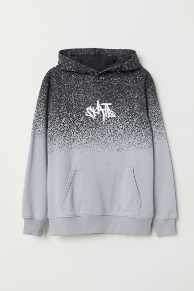 Printed hooded top - Grey - Kids | H&M