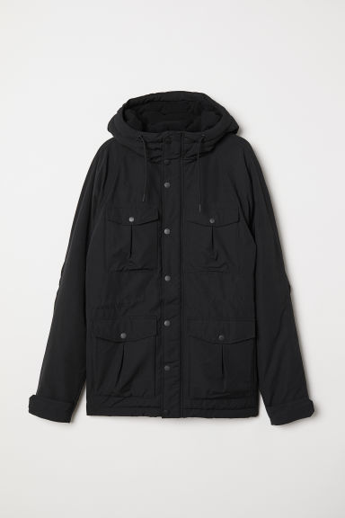 Padded parka - Black - Men | H&M CN